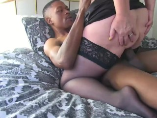 GRANNYLOVESBLACK - GILF Anally Pounded By Huge Black Dong