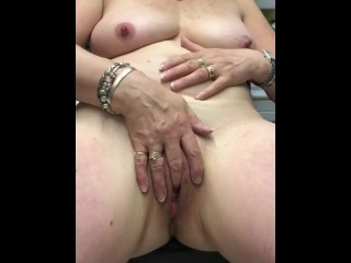 Dirty at work. Stripping and fingering myself