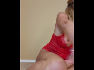 jerk off instructions in sexy lingerie and heels