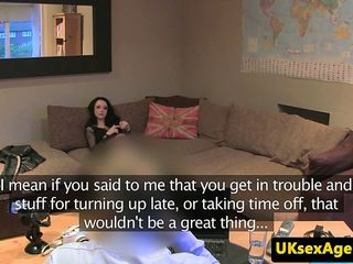 British amateur pussyfucked on casting couch