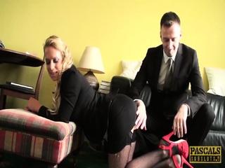 PASCALSSUBSLUTS - Busty Blonde Sasha Steele Dominated Hard