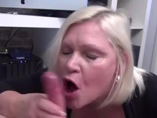 LACEYSTARR - GILF Sucks Off Nerdy Pervert