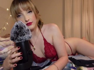 ASMR - LOVING GIRLFRIEND IN SEXY RED LACE HELPS YOU RELEASE YOUR TENSION