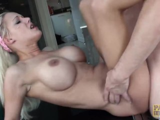 PASCALSSUBSLUTS - Bombshell Loulou Slapped and Fucked by Daddy