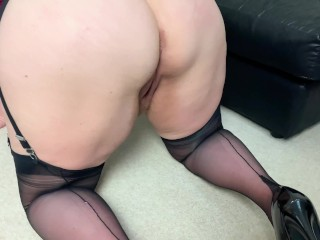 Filthy StepMom crawls on her knees wanting to be taken from behind.